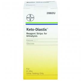 Keto diastix 50 bandelettes réactives pour analyse d'urine